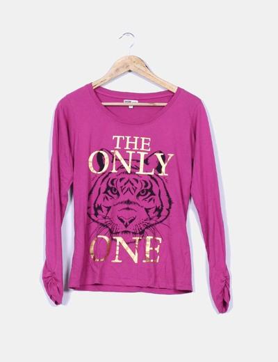 Camiseta rosa estampada Inside