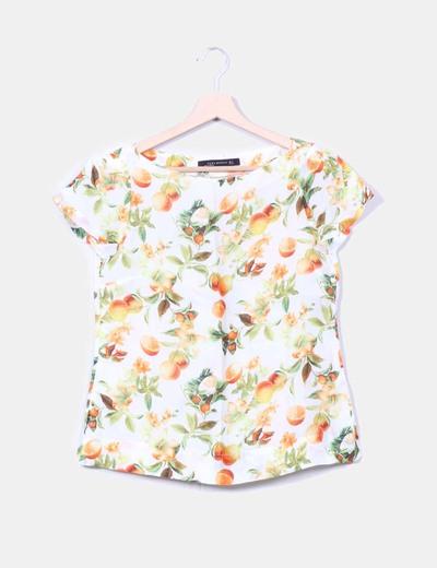 Blusa estampado futal Zara
