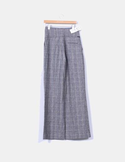 Pantalon de pinza de tiro alto estampado