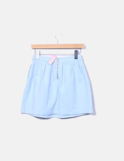 Falda azul clara