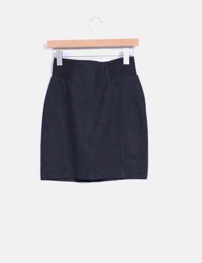 Falda mini gris marengo