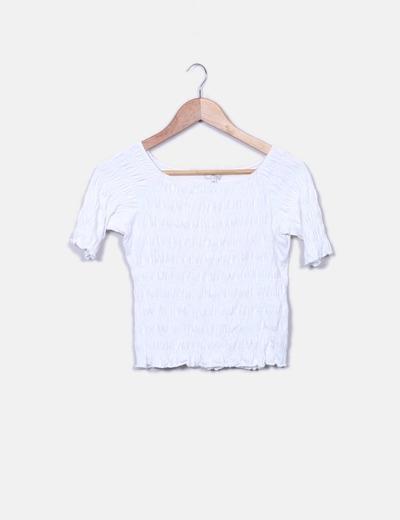 Fruncida Camiseta Blanca Fruncida Fruncida Blanca Camiseta Camiseta Fruncida Blanca Camiseta Blanca thrBsCQodx