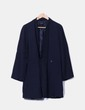 Abrigo largo azul marino Zara