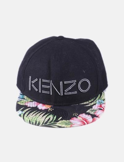003a8a3b14ec Kenzo Casquette noire avec visière florale (réduction 76%) - Micolet