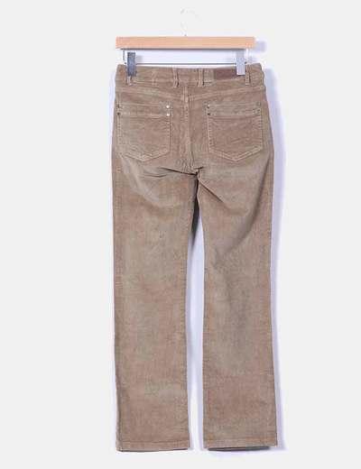 Pantalon camel de pana