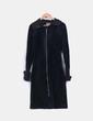 Abrigo negro largo  Stradivarius