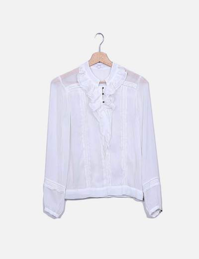 Blusa blanca volante Phildar