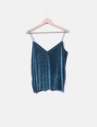 Pull Bear Blusa di vellutato verde (sconto 56%) - Micolet 5aa65a3ba1a