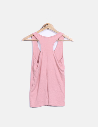 Camiseta basica rosa palo espalda nadadora