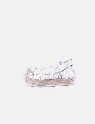 White grid slippers with platform Vidorreta