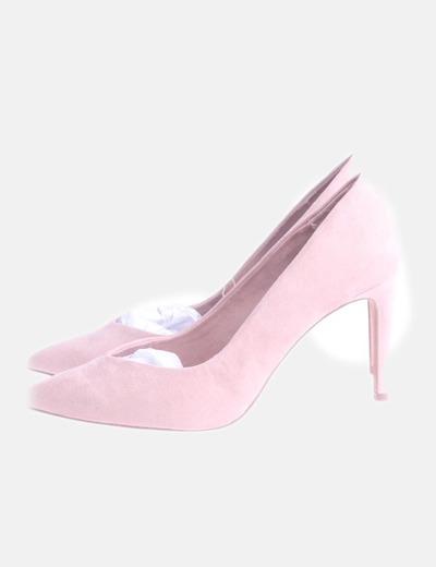 Zapato rosa maquillaje