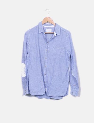 Camisa azul de rayas Springfield