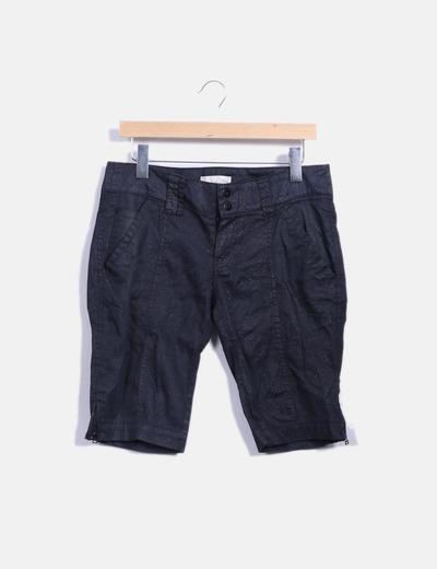 Pantalón pirata negro glitter Zara