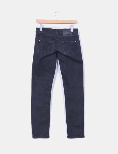 Pantalon negro efecto destenido