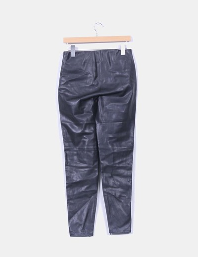 Pantalon negro polipiel