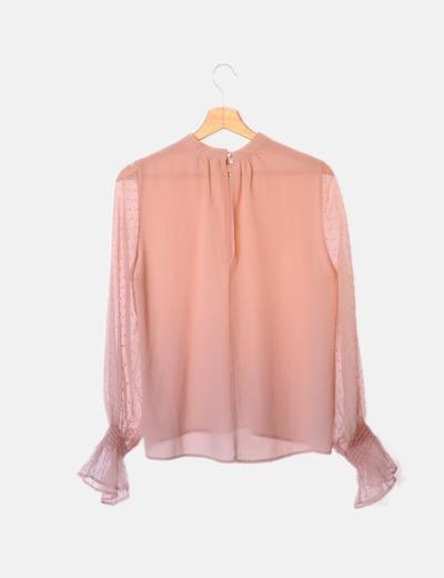 zapatos casuales venta en línea 60% barato Blusa rosa plumeti