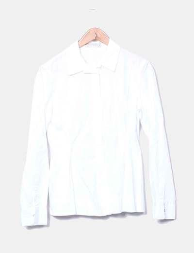 Glattes weißes Shirt Purificación García