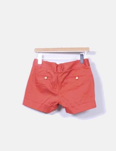 Shorts de pinzas naranja