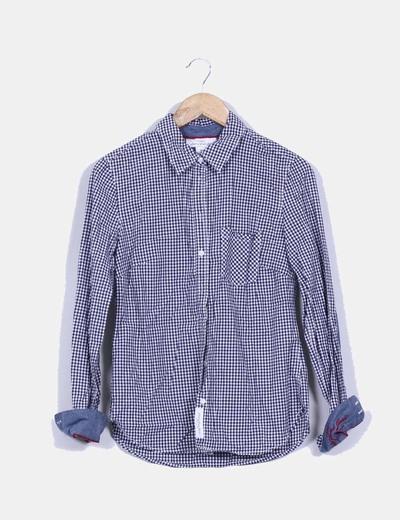 Camisa cuadros blancos y azules H&M