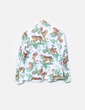 Blazer de algodón con animal print NoName