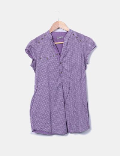 Blusa morada estampada Pull&Bear