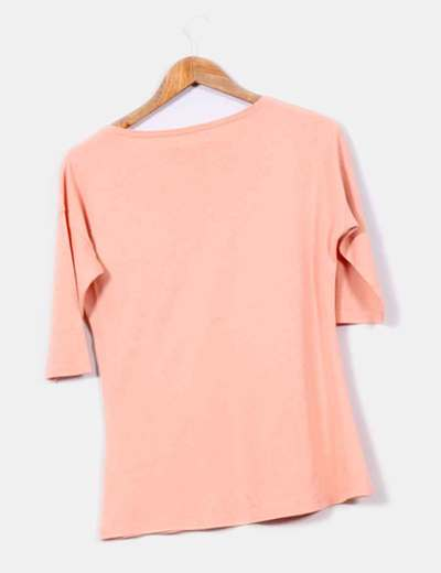 Camiseta naranja foto chica