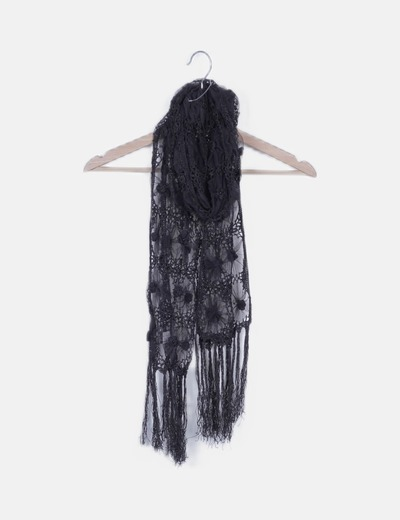 Foulard negro de encaje