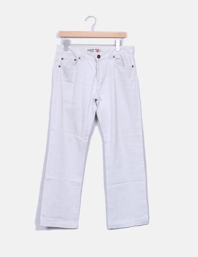 Pantalón beige recto Green Coast
