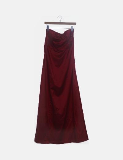 Vestido rojo bandeau