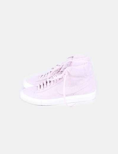 Deportivas abotinadas serraje rosa palo Nike