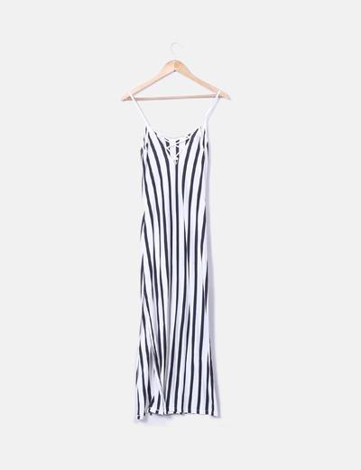 de calidad superior precio oficial venta de bajo precio Vestido rayas azul marino