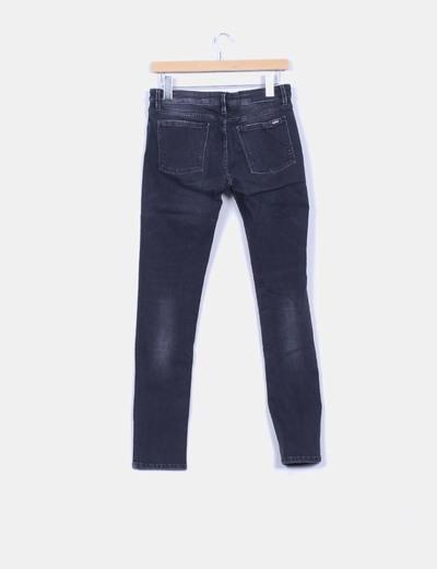 Pantalon denim negro elastico