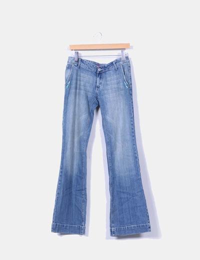 Jeans denim campana azul medio TELVA