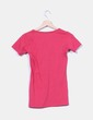 Camiseta fucsia estampada New Caro