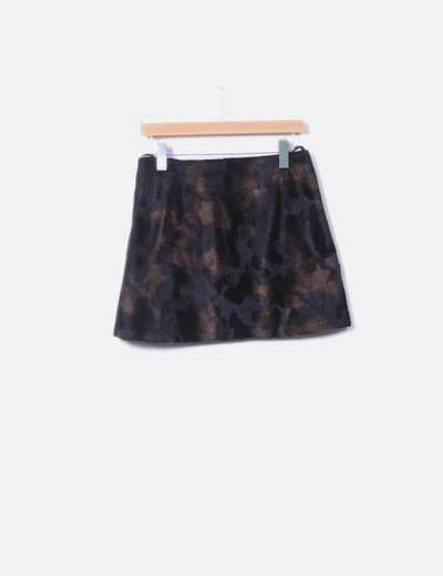 Mini falda pelo