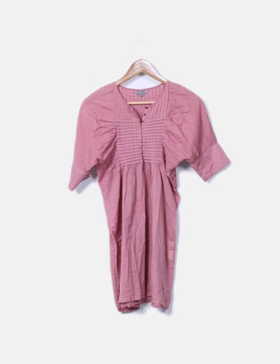 Chemisier rose avec motif plis Laorange