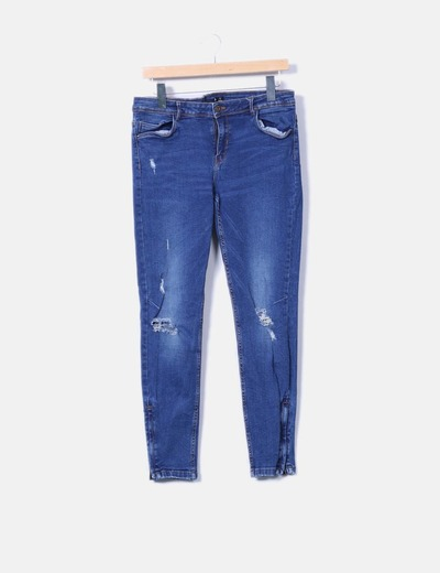 Pantalón pitillo vaquero Zara