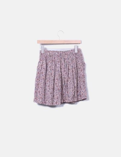 Minifalda fluida floral