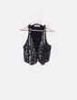 Chaleco corto negro con lentejuelas Zara