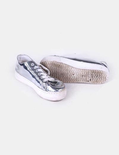 Zapato con plataforma plateado