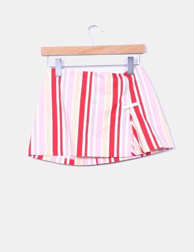 Mini falda rayas Suiteblanco