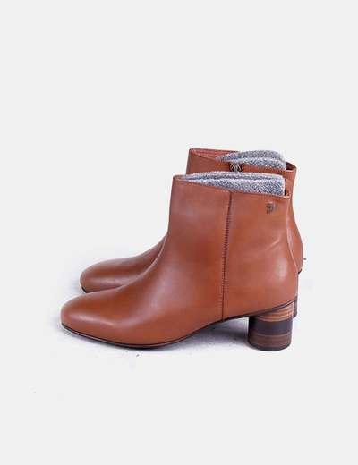 923f20fe82 Gios eppo Botines marrones tacón madera redondo (descuento 51%) - Micolet