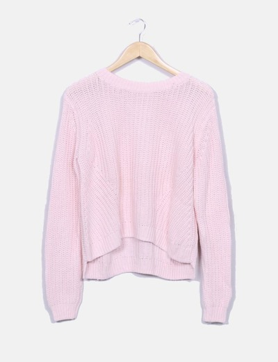 Jersey punto rosa H&M