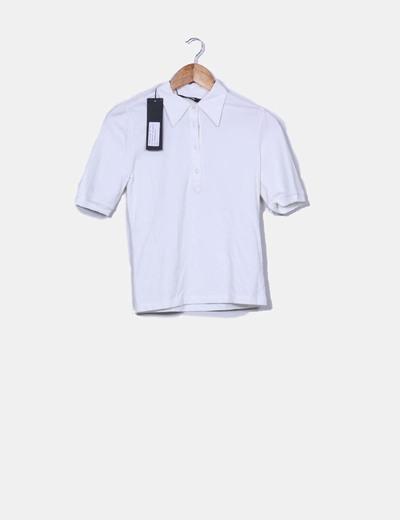 Polo blanco manga corta Filippa K