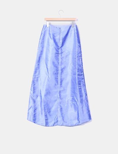 Conjunto de falda y corpino azul con strass