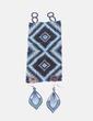 Conjunto de brazalete y pendientes azules NoName