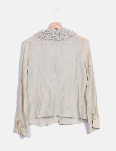 Blusa beige manga larga