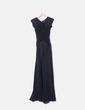 Maxi vestido negro combinado encaje TFNC