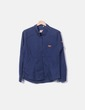 Camisa azul de manga larga Lonsdale