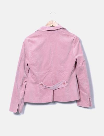 Blazer rosa bolsillos